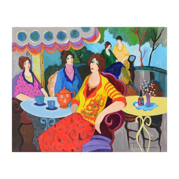 Itzchak Tarkay (1935-2012), One-of-a-Kind Acrylic Over Paint on Canvas