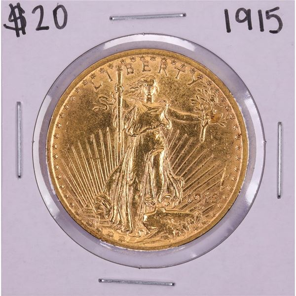 1915 $20 St. Gaudens Double Eagle Gold Coin