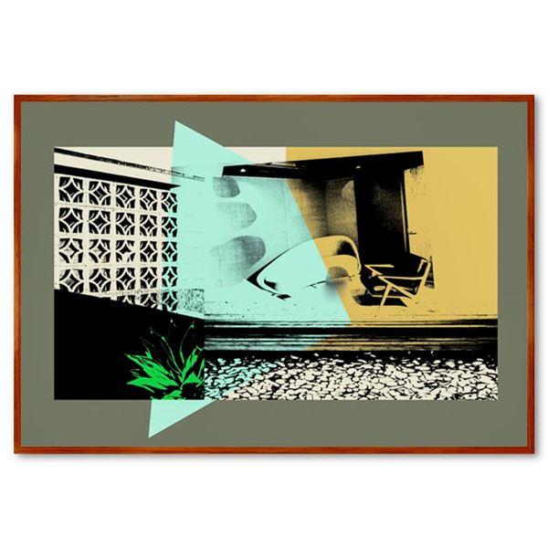 "Claudio Santini ""Domestic Landscape"" Limited Edition Mixed Media on Canvas"