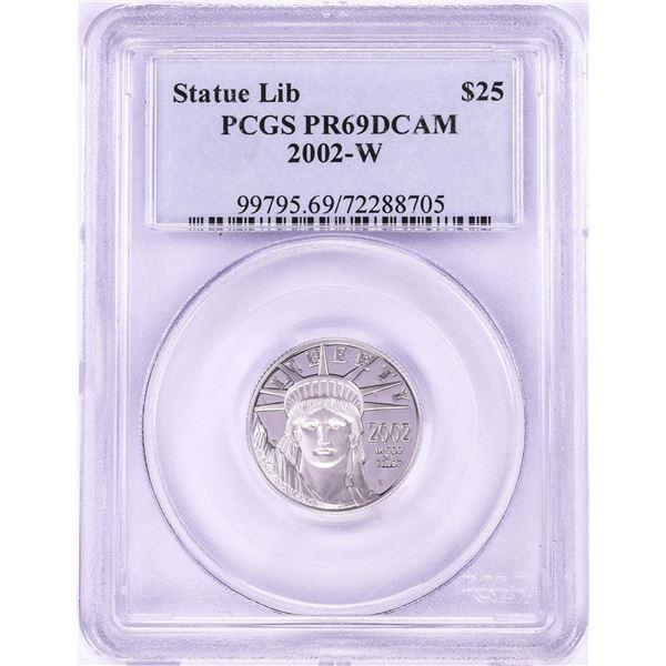 2002-W Proof $25 Platinum American Eagle Coin PCGS PR69DCAM