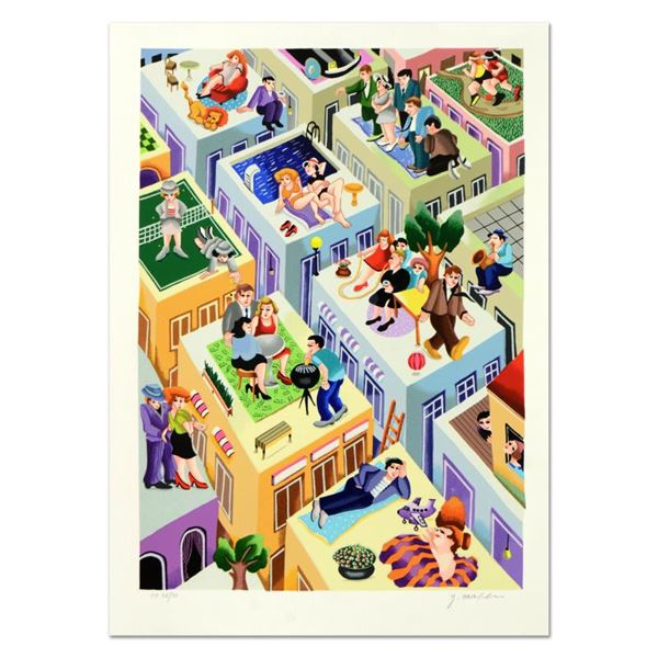 """Yuval Mahler """"Escaping The Fire"""" Limited Edition Serigraph on Paper"""