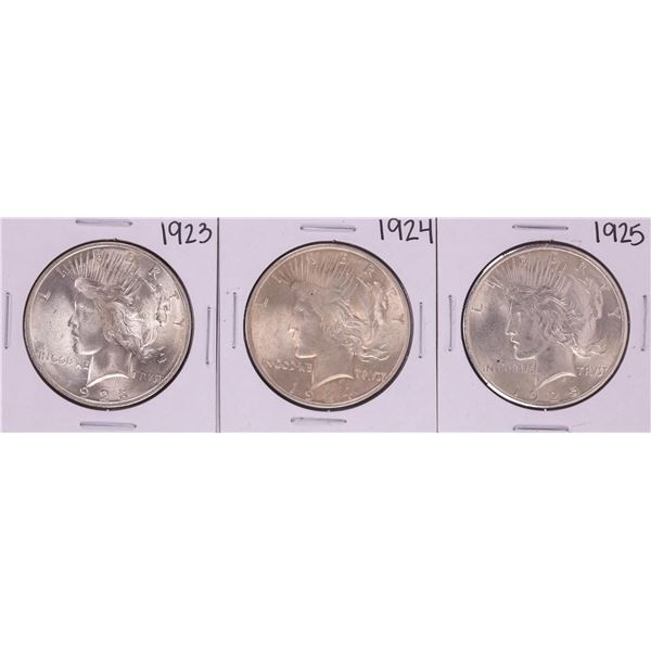 Lot of 1923-1925 $1 Peace Silver Dollar Coins