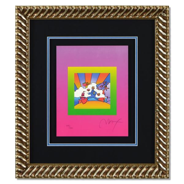 """Peter Max """"Cosmic Runner on Blends"""" Limited Edition Lithograph on Paper"""