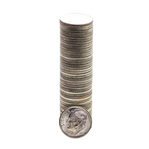 Roll of (50) Brilliant Uncirculated 1953-S Roosevelt Dimes