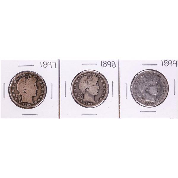 Lot of 1897-1899 Barber Half Dollar Coins