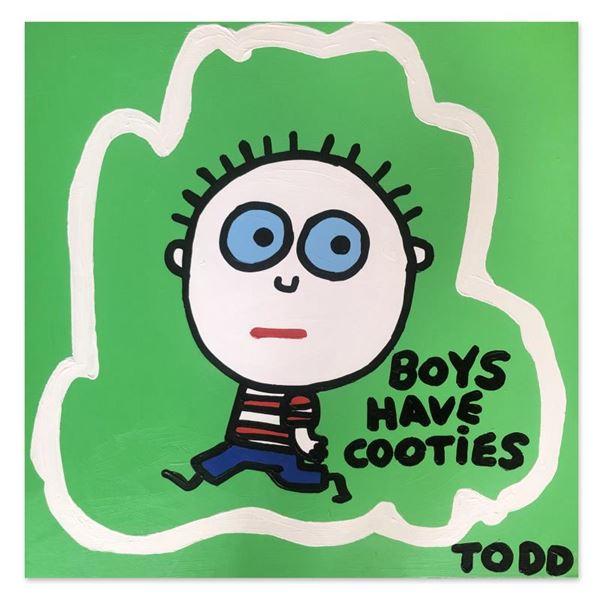 "Goldman ""Boys Have Cooties"" Original Acrylic on Canvas"