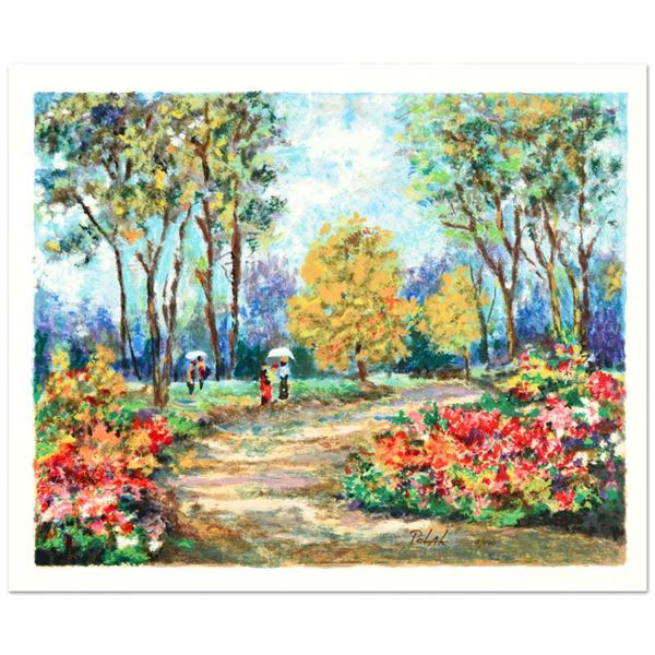 """Polak (1922-2008) """"In The Park"""" Limited Edition Serigraph on Paper"""