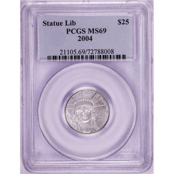 2004 $25 Platinum American Eagle Coin PCGS MS69
