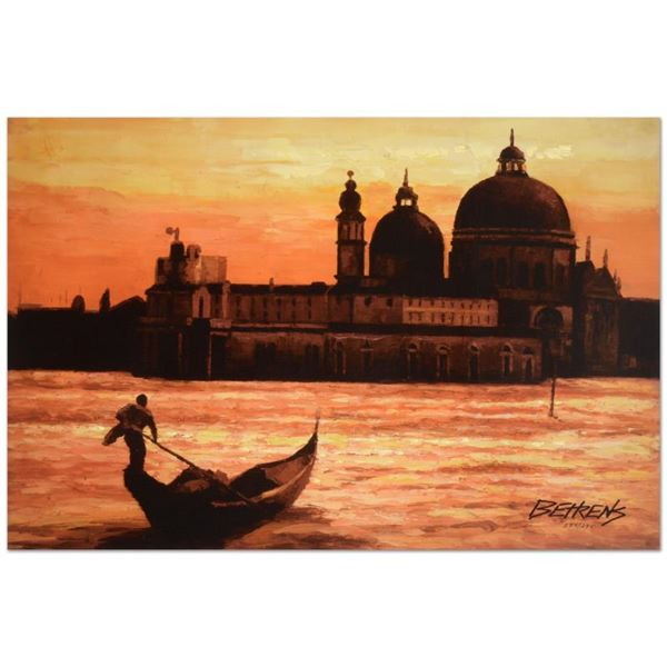 """Behrens (1933-2014) """"Sunset on The Grand Canal 1"""" Limited Edition Giclee on Canvas"""