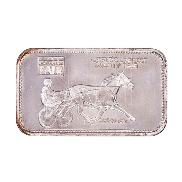 1986 L.A. County Fair Montclair, CA Limited Edition 1oz .999 Fine Silver Art Bar