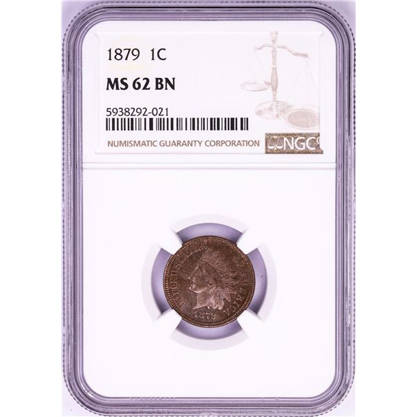 1879 Indian Head Cent Coin NGC MS62BN