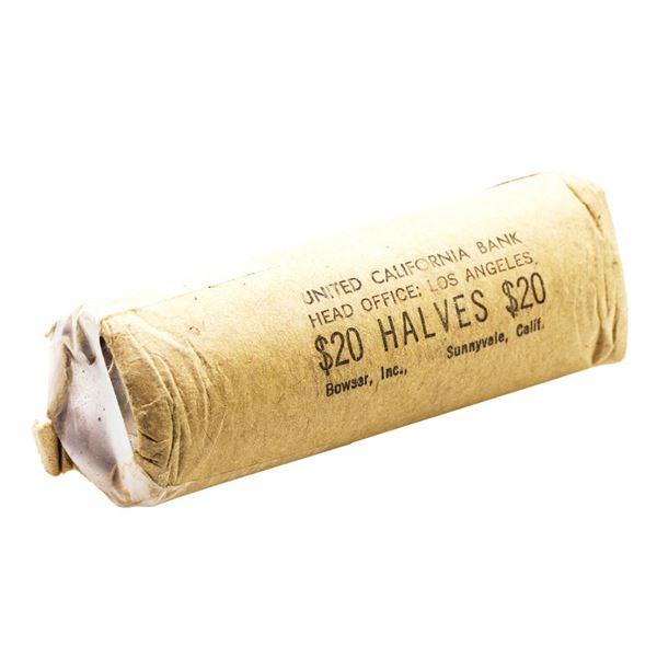 Shotgun Roll of (40) Brilliant Uncirculated 1963-D Franklin Half Dollar Coins