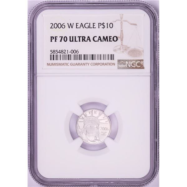 2006-W $10 Proof American Platinum Eagle Coin NGC PF70 Ultra Cameo