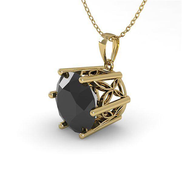 1 ctw Black Diamond Art Deco Necklace 14k Yellow Gold - REF-26H2R