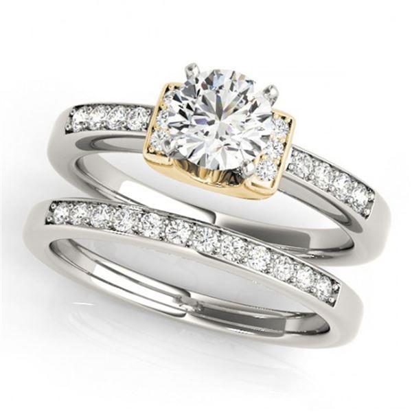 0.76 ctw Certified VS/SI Diamond Solitaire 2pc Set 14k 2Tone Gold - REF-100M9G