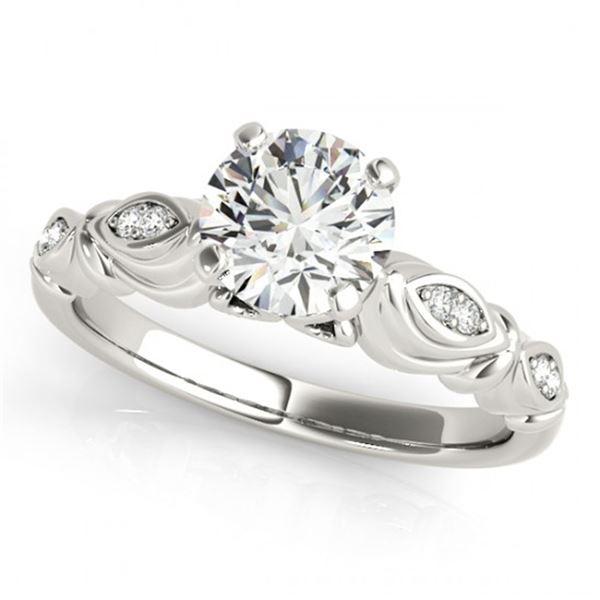 0.4 ctw Certified VS/SI Diamond Antique Ring 18k White Gold - REF-53K2Y