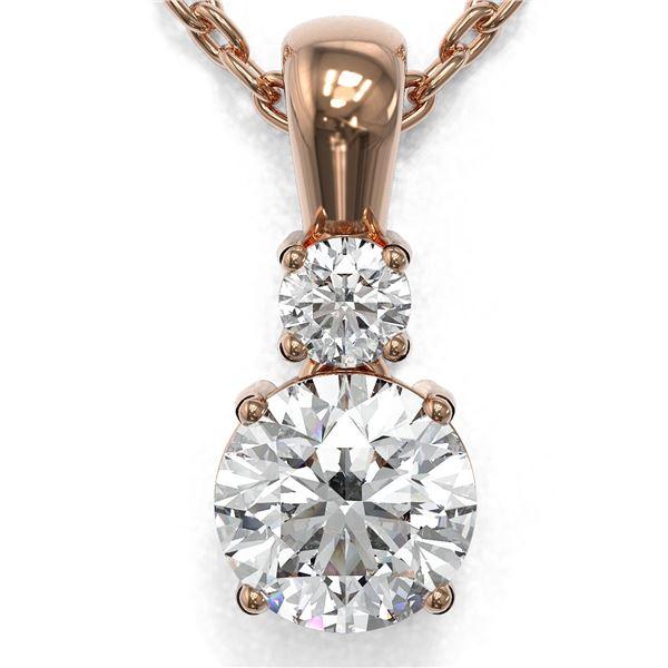 0.6 ctw Diamond Designer Necklace 18K Rose Gold - REF-89A6N