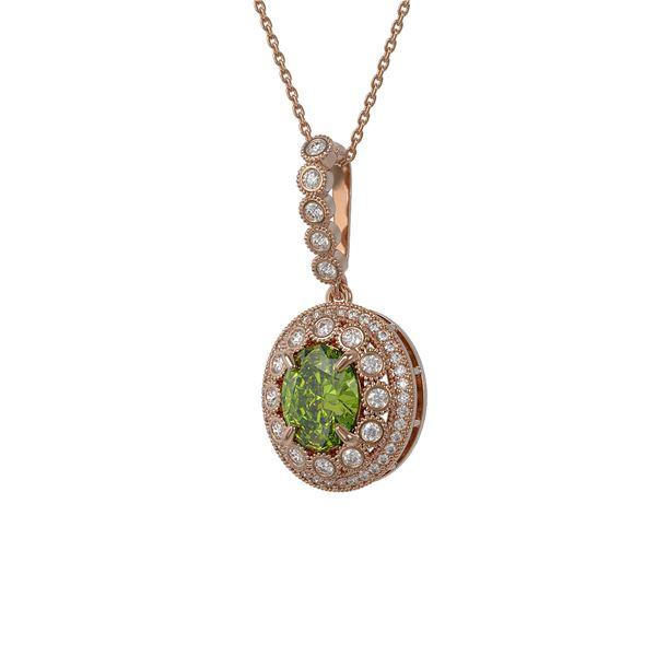 4.22 ctw Tourmaline & Diamond Victorian Necklace 14K Rose Gold - REF-134K2Y