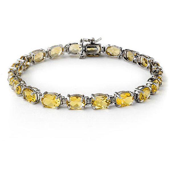 16.40 ctw Citrine Bracelet 10k White Gold - REF-34R9K