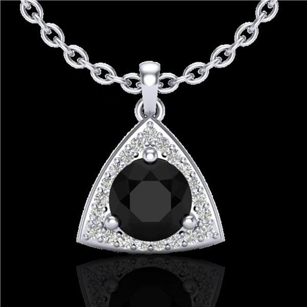 1.75 ctw Micro Pave VS/SI Diamond Certified Necklace 18k White Gold - REF-76R4K