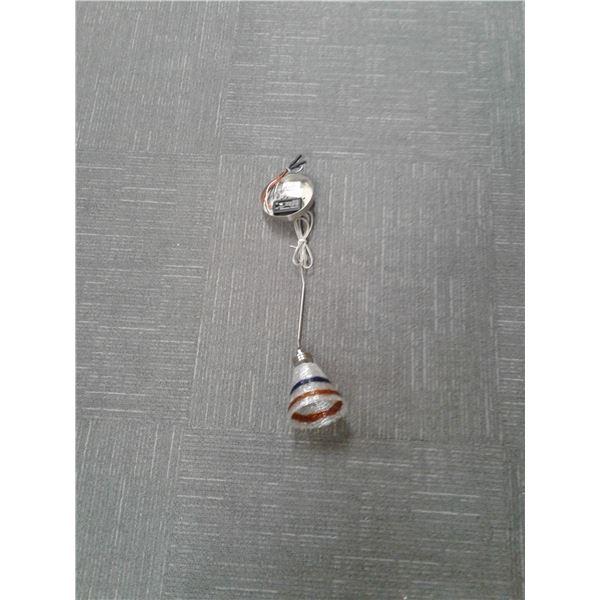 Brushed Aluminum Pendant Light x 2 (Item 41341BA)