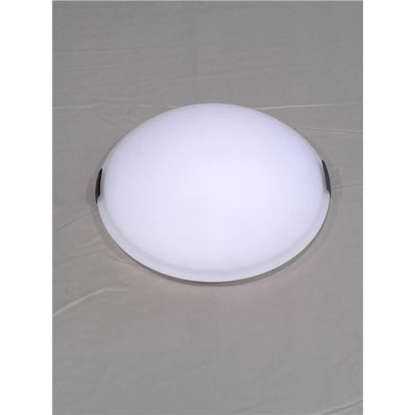 Flush mount dome light bronze w/white glass 2 bulb x 1 case (6 pcs per case)