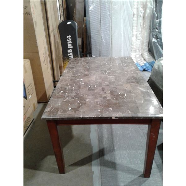 Stone Top Table (minor Imperfections) x 1