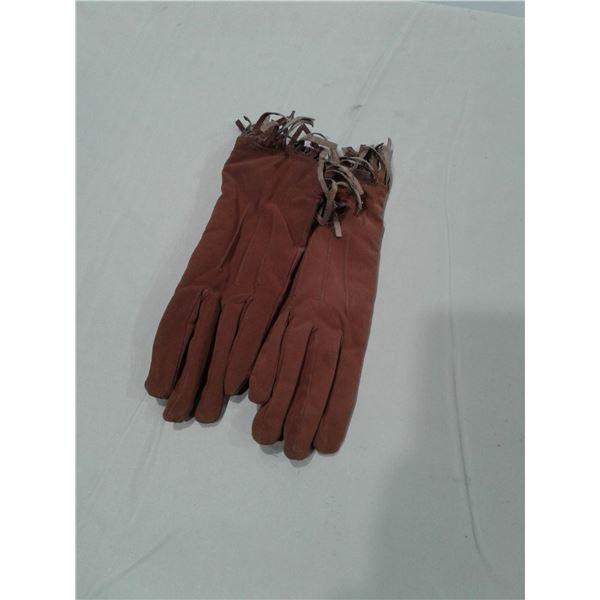Medium Brown Suede Glove x 1 pair
