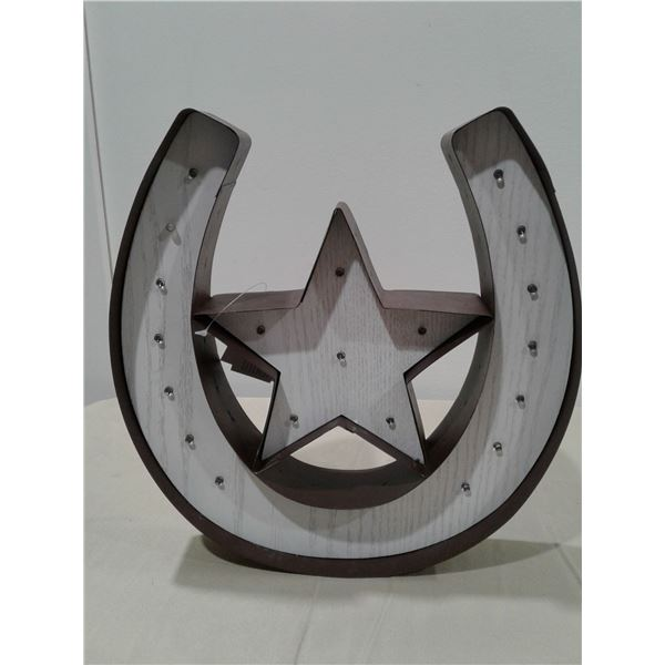 Wall Decoration Horse Shoe Light Up x 1 pc