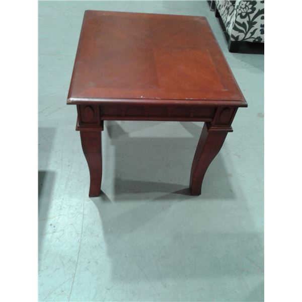 Wood Appearance Side Table (Minor imperfections) x 1