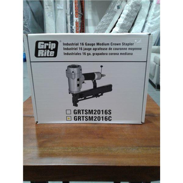 Grip-Rite 2 Inch x 7/16 Inch Industrial Medium Crown Stapler. 16 Gauge