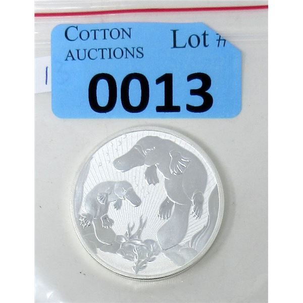 2 Oz Fine Silver Perth Mint 2021 Platypus Coin