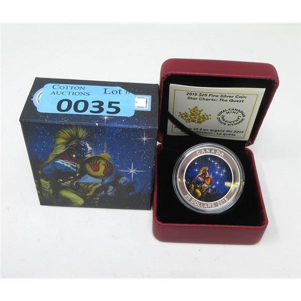 2015 Canada .9999 Silver $25 ColourizedCoin