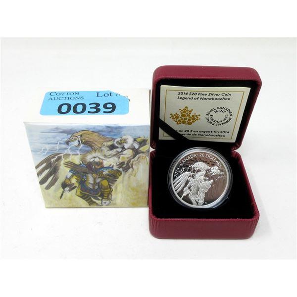 2014 Canada .9999 Silver $20 Coin