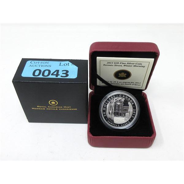 2013 Canada .999 Silver $20 Coin