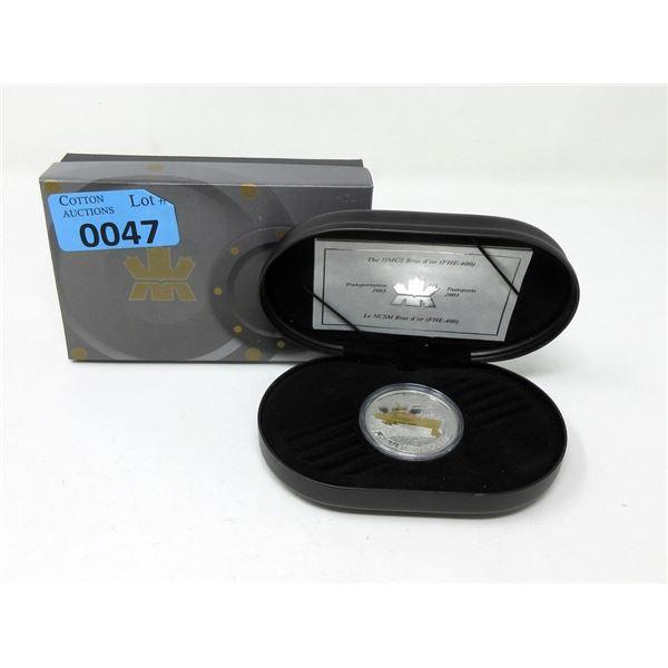 "2003 Canada ""HMCS Bras d'Or"" $20 Coin"