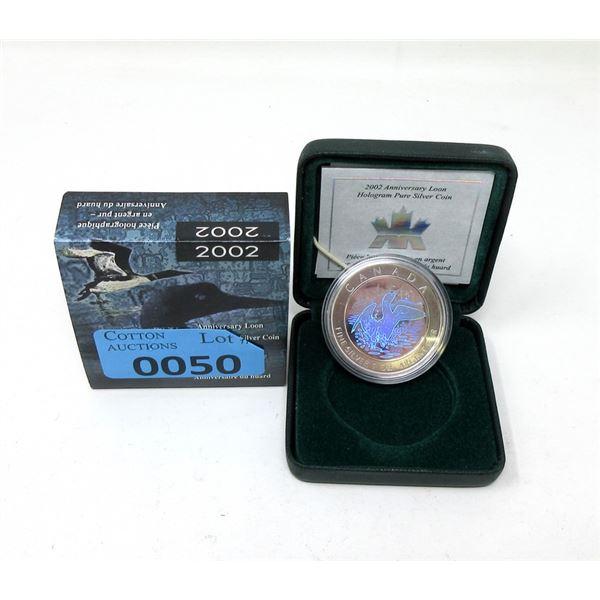 2002 Canada .9999 Silver 31.39 Gram Coin