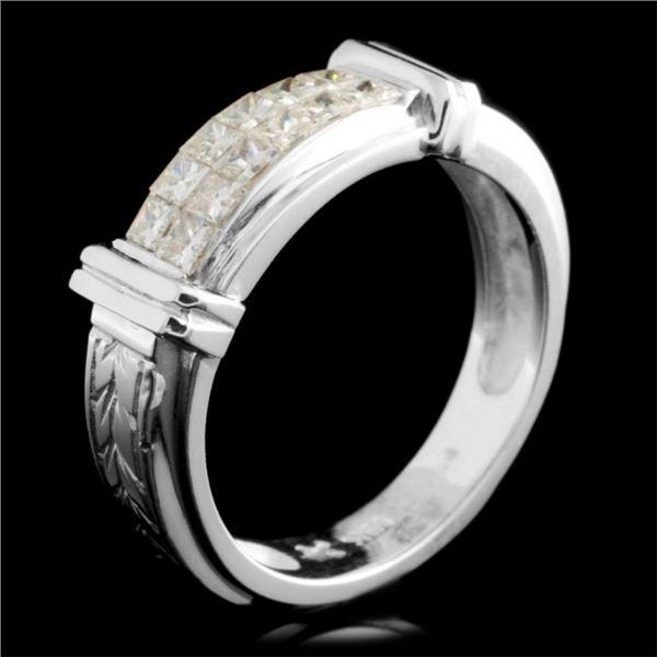 18K Gold 0.73ctw Diamond Ring
