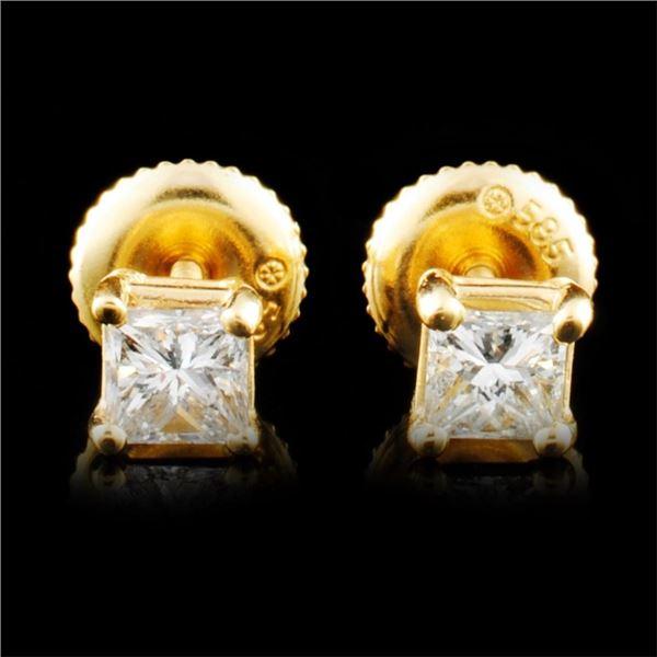 14K Gold 0.52ctw Diamond Earrings
