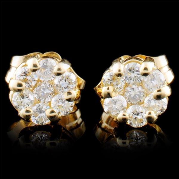 14K Gold 0.30ctw Diamond Earrings