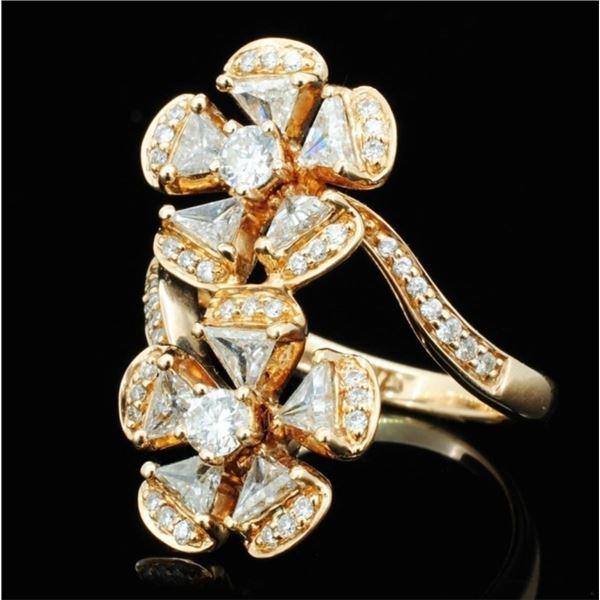 18K Rose Gold 1.93ctw Diamond Ring