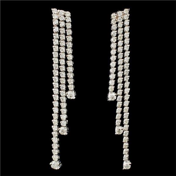 18K Gold 2.36ctw Diamond Earrings