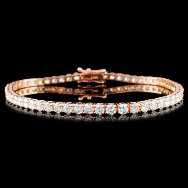 14K Gold 5.20ctw Diamond Bracelet