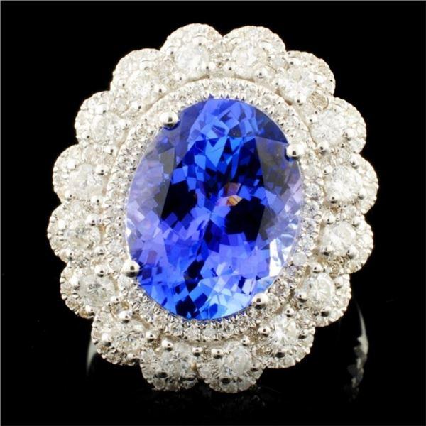 18K Gold 4.92ct Tanzanite & 1.07ctw Diamond Ring