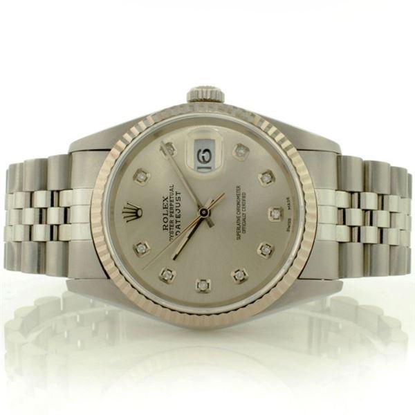 Rolex DateJust 18K White Gold & SS 36MM Wristwatch