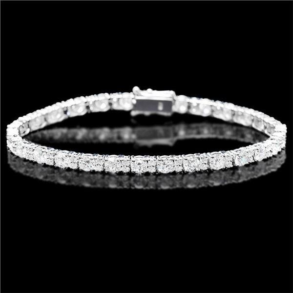 18k White Gold 9.00ct Diamond Bracelet