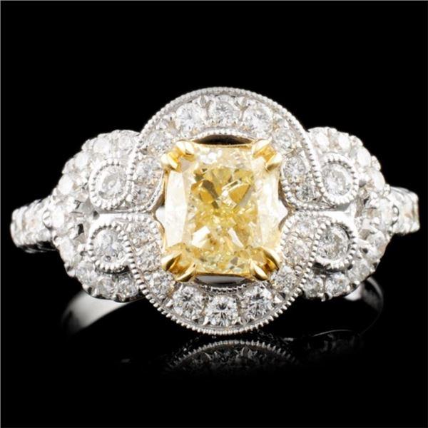 18K Gold 1.79ctw Fancy Diamond Ring