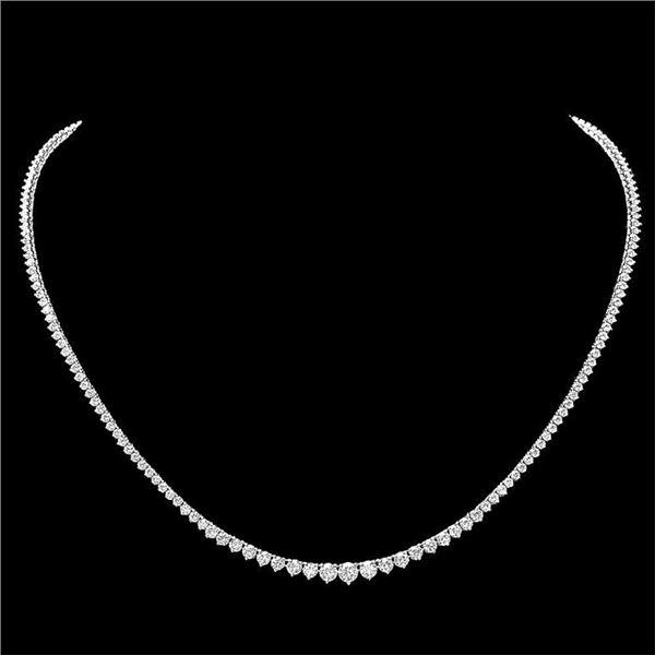 18k White Gold 6.80ct Diamond Necklace