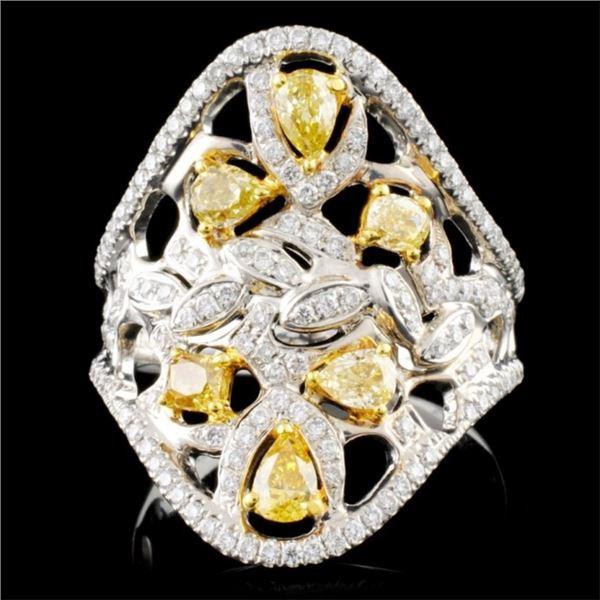 18K Gold 1.33ctw Fancy Color Diamond Ring