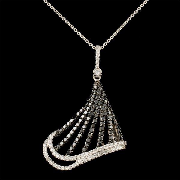 14K Gold 1.45ctw Diamond Pendant
